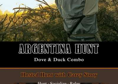 Hosted Argentina Hunt with Carey Story invite