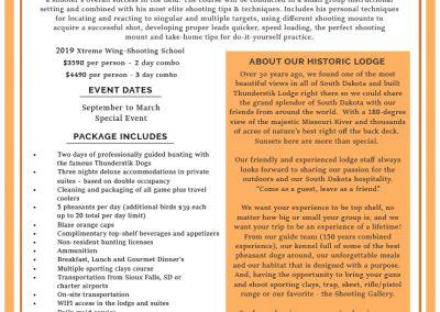 Patrick F Pheasant Hunt Information Sheet - FINAL