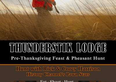 Rick & Corey Harrison Pre-Thanksgiving Feast Pheasant Hunt Invite 2019