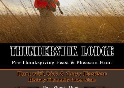Rick & Corey Harrison Pre-Thanksgiving Feast Pheasant Hunt Invite 2019