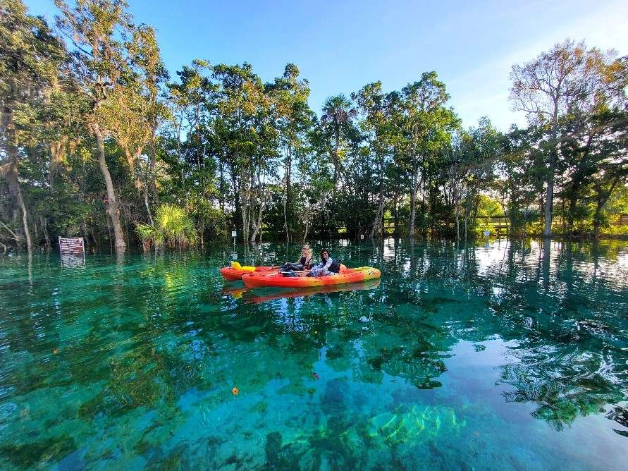crystal clear Florida boating