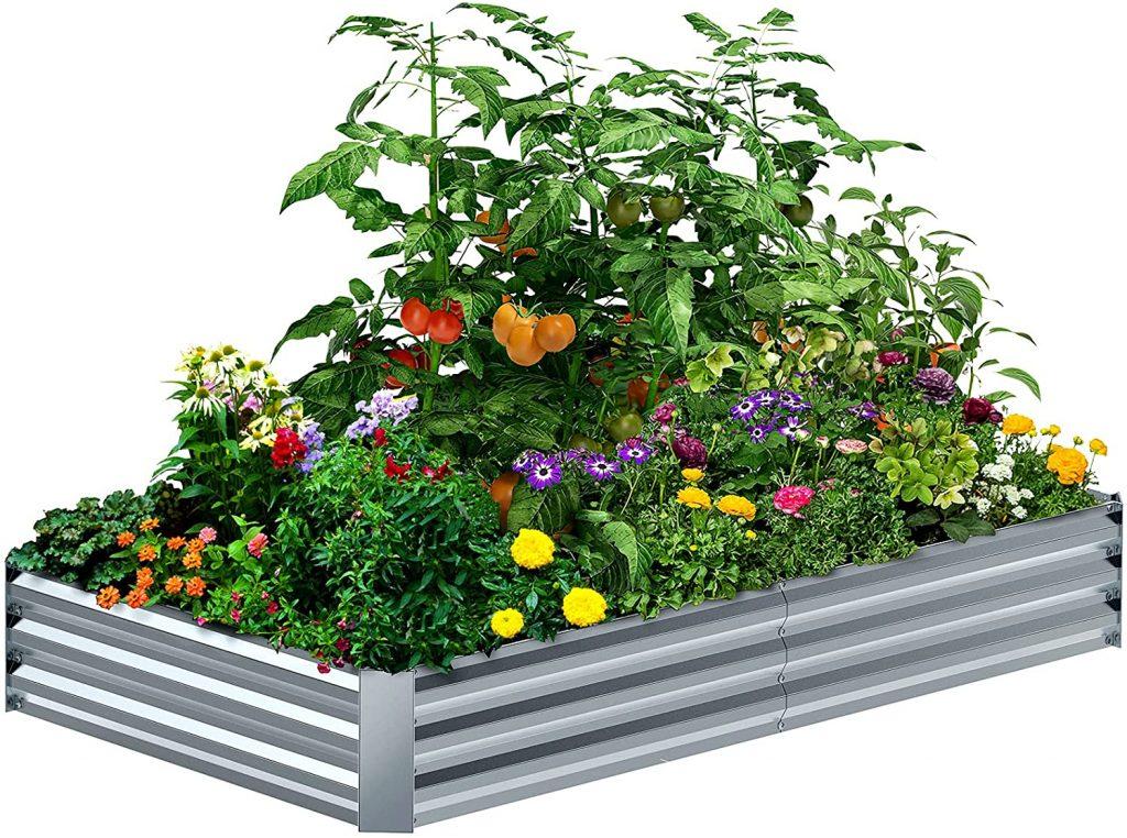 8×4×1FT Galvanized Raised Garden Bed Kit