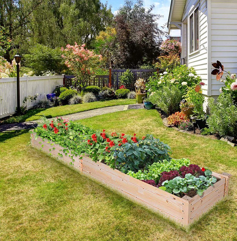 EAGLE PEAK Outdoor Wooden Raised Garden Bed