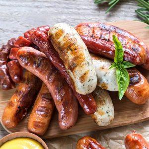 Farm food sausage